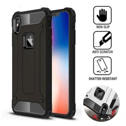Funda Tipo Hybrid Tough Armor (Pc+Tpu) Negra para Iphone XS Max