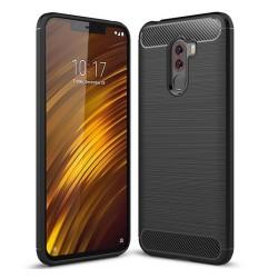 Funda Gel Tpu Tipo Carbon Negra para Xiaomi Pocophone F1