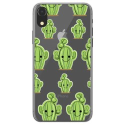 Funda Gel Transparente para Iphone XR Diseño Cactus Dibujos