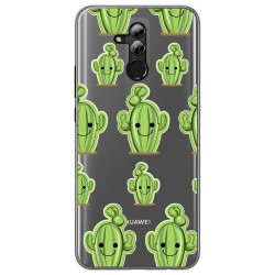 Funda Gel Transparente para Huawei Mate 20 Lite Diseño Cactus Dibujos