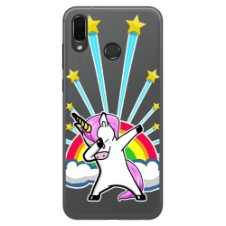 Funda Gel Transparente para Huawei Honor Play Diseño Unicornio Dibujos