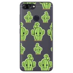 Funda Gel Transparente para Asus Zenfone Max Plus M1 Diseño Cactus Dibujos