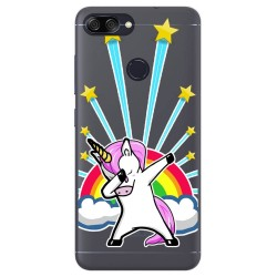 Funda Gel Transparente para Asus Zenfone Max Plus M1 Diseño Unicornio Dibujos