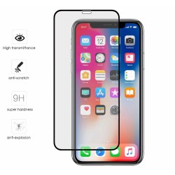 Protector Cristal Templado Completo Full Glue Negro para Iphone X / XS Vidrio