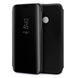 Funda Flip Cover Clear View Negra para Huawei P Smart Plus