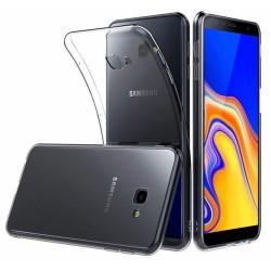 Funda Gel Tpu Fina Ultra-Thin 0,5mm Transparente para Samsung Galaxy J4+ Plus