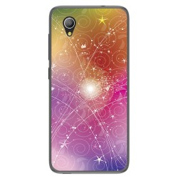 Funda Gel Tpu para Alcatel 1 / Orange Rise 54 / Vodafone Smart E9 Diseño Abstracto Dibujos