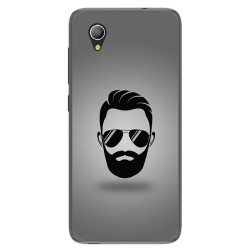 Funda Gel Tpu para Alcatel 1 / Orange Rise 54 / Vodafone Smart E9 Diseño Barba Dibujos