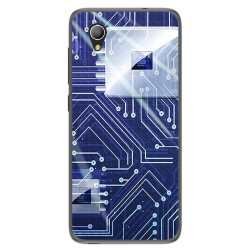 Funda Gel Tpu para Alcatel 1 / Orange Rise 54 / Vodafone Smart E9 Diseño Circuito Dibujos