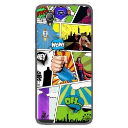 Funda Gel Tpu para Alcatel 1 / Orange Rise 54 / Vodafone Smart E9 Diseño Comic Dibujos