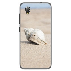 Funda Gel Tpu para Alcatel 1 / Orange Rise 54 / Vodafone Smart E9 Diseño Concha Dibujos