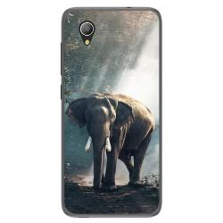 Funda Gel Tpu para Alcatel 1 / Orange Rise 54 / Vodafone Smart E9 Diseño Elefante Dibujos