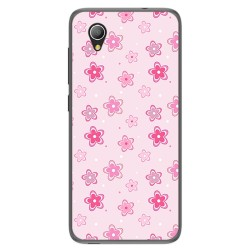 Funda Gel Tpu para Alcatel 1 / Orange Rise 54 / Vodafone Smart E9 Diseño Flores Dibujos