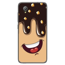 Funda Gel Tpu para Alcatel 1 / Orange Rise 54 / Vodafone Smart E9 Diseño Helado Chocolate Dibujos