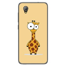 Funda Gel Tpu para Alcatel 1 / Orange Rise 54 / Vodafone Smart E9 Diseño Jirafa Dibujos