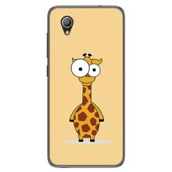 Funda Gel Tpu para Alcatel 1 / Orange Rise 54 / Vodafone Smart E9 Diseño Jirafa Dibujos