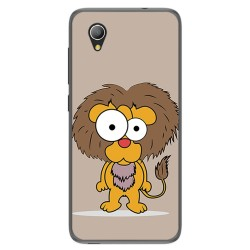 Funda Gel Tpu para Alcatel 1 / Orange Rise 54 / Vodafone Smart E9 Diseño Leon Dibujos