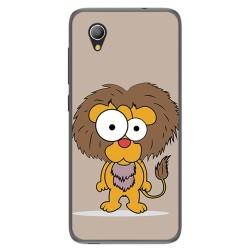 Funda Gel Tpu para Alcatel 1 / Orange Rise 54 / Vodafone Smart E9 Diseño Leon Dibujos