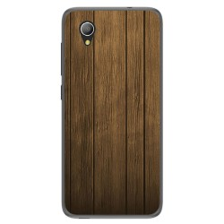 Funda Gel Tpu para Alcatel 1 / Orange Rise 54 / Vodafone Smart E9 Diseño Madera Dibujos