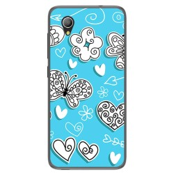 Funda Gel Tpu para Alcatel 1 / Orange Rise 54 / Vodafone Smart E9 Diseño Mariposas Dibujos