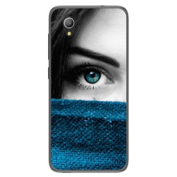 Funda Gel Tpu para Alcatel 1 / Orange Rise 54 / Vodafone Smart E9 Diseño Ojo Dibujos