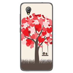 Funda Gel Tpu para Alcatel 1 / Orange Rise 54 / Vodafone Smart E9 Diseño Pajaritos Dibujos