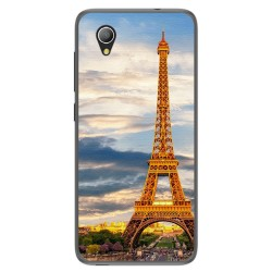 Funda Gel Tpu para Alcatel 1 / Orange Rise 54 / Vodafone Smart E9 Diseño Paris Dibujos