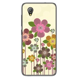 Funda Gel Tpu para Alcatel 1 / Orange Rise 54 / Vodafone Smart E9 Diseño Primavera En Flor Dibujos