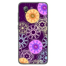 Funda Gel Tpu para Alcatel 1 / Orange Rise 54 / Vodafone Smart E9 Diseño Radial Dibujos