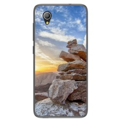 Funda Gel Tpu para Alcatel 1 / Orange Rise 54 / Vodafone Smart E9 Diseño Sunset Dibujos