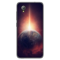 Funda Gel Tpu para Alcatel 1 / Orange Rise 54 / Vodafone Smart E9 Diseño Tierra Dibujos