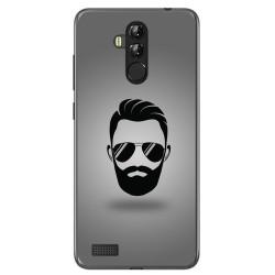 Funda Gel Tpu para Leagoo M9 Pro Diseño Barba Dibujos