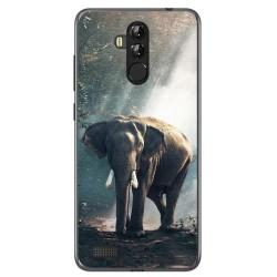 Funda Gel Tpu para Leagoo M9 Pro Diseño Elefante Dibujos