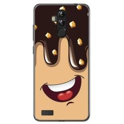 Funda Gel Tpu para Leagoo M9 Pro Diseño Helado Chocolate Dibujos