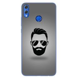 Funda Gel Tpu para Huawei Honor 8X Diseño Barba Dibujos