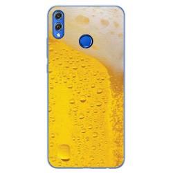 Funda Gel Tpu para Huawei Honor 8X Diseño Cerveza Dibujos