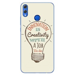 Funda Gel Tpu para Huawei Honor 8X Diseño Creativity Dibujos