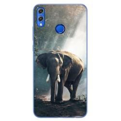 Funda Gel Tpu para Huawei Honor 8X Diseño Elefante Dibujos