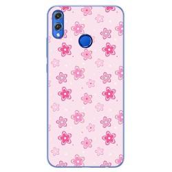 Funda Gel Tpu para Huawei Honor 8X Diseño Flores Dibujos