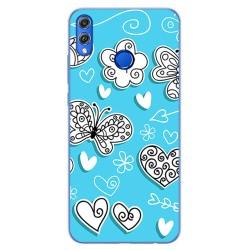 Funda Gel Tpu para Huawei Honor 8X Diseño Mariposas Dibujos