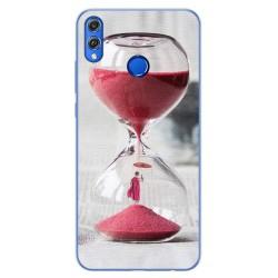 Funda Gel Tpu para Huawei Honor 8X Diseño Reloj Dibujos