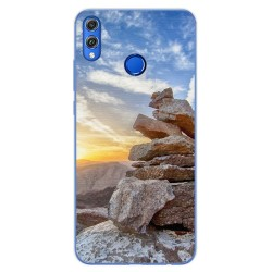 Funda Gel Tpu para Huawei Honor 8X Diseño Sunset Dibujos