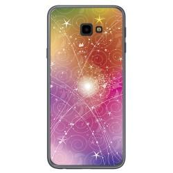 Funda Gel Tpu para Samsung Galaxy J4+ Plus Diseño Abstracto Dibujos