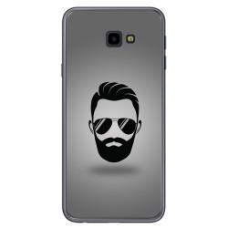 Funda Gel Tpu para Samsung Galaxy J4+ Plus Diseño Barba Dibujos