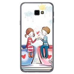 Funda Gel Tpu para Samsung Galaxy J4+ Plus Diseño Cafe Dibujos