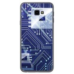 Funda Gel Tpu para Samsung Galaxy J4+ Plus Diseño Circuito Dibujos