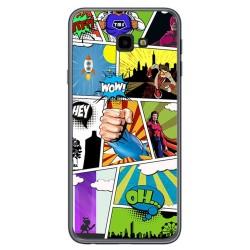 Funda Gel Tpu para Samsung Galaxy J4+ Plus Diseño Comic Dibujos