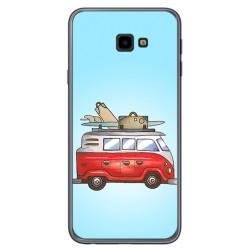 Funda Gel Tpu para Samsung Galaxy J4+ Plus Diseño Furgoneta Dibujos