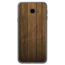 Funda Gel Tpu para Samsung Galaxy J4+ Plus Diseño Madera Dibujos