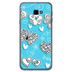 Funda Gel Tpu para Samsung Galaxy J4+ Plus Diseño Mariposas Dibujos